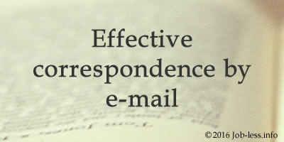 Effective correspondence by e-mail